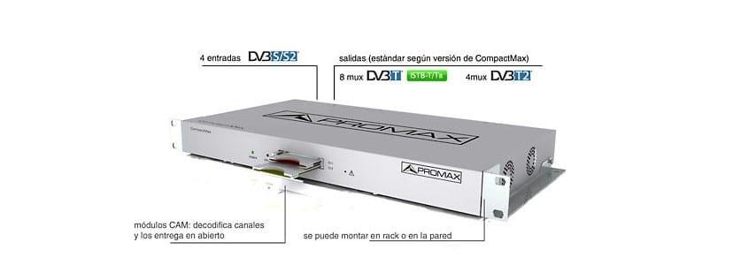 Promax propone soluciones para instalaciones de TV por satélite vía TDT