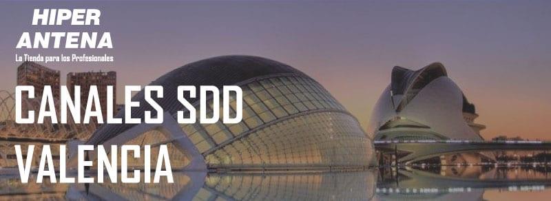 Canales para el segundo dividendo digital de Alicante,Castellón y Valencia